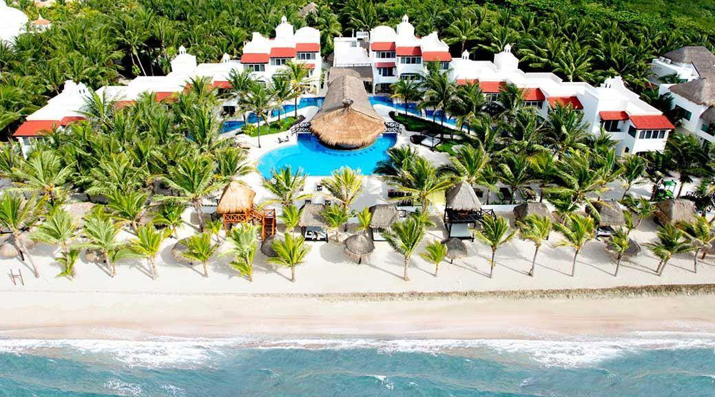 Hidden Beach Resort Hotel Palm Trees Sand Sea